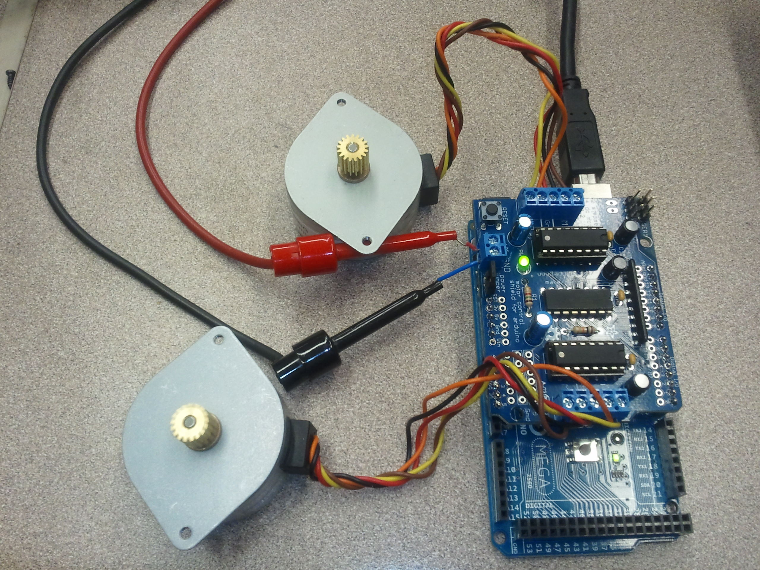 Arduino motor control shield the paleotechnologist for Controlling a stepper motor