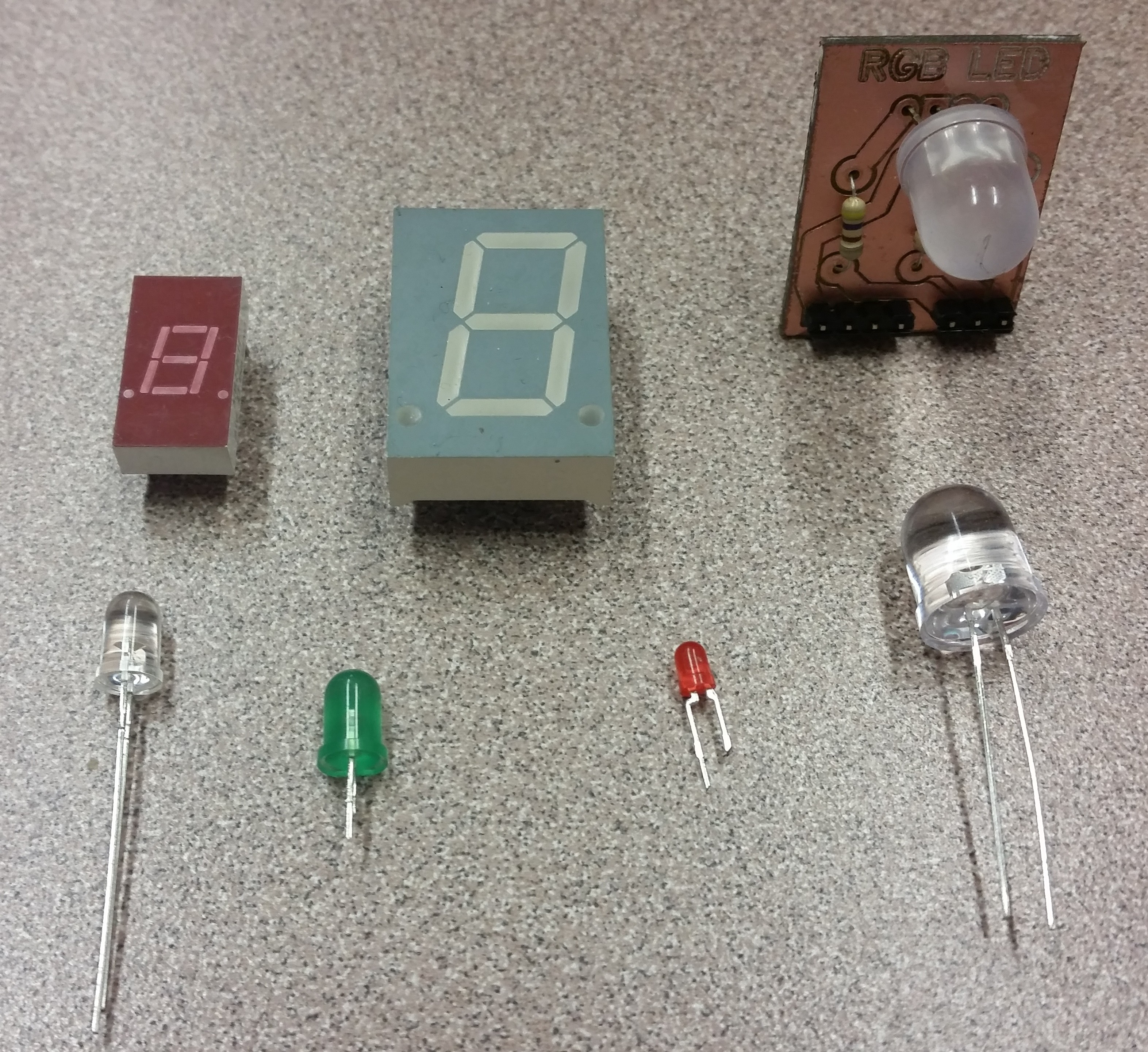 Components Leds The Paleotechnologist In Series Resistor Circuit An Assortment Of Led Types