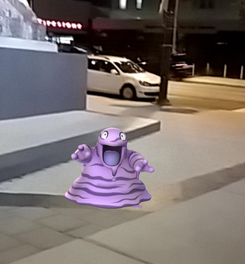 Ran across this guy (turned out to be something called a Grimer) on campus. There are some weird ones out there!
